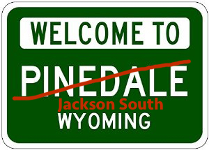 New Pinedale city limit sign?